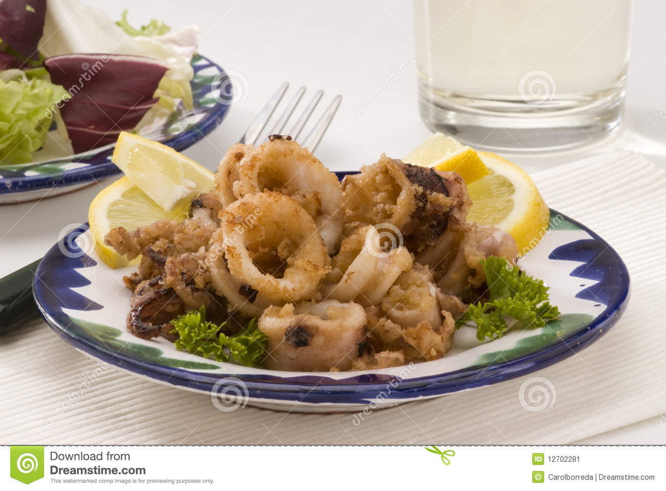 Spanish cuisine andalusian deep fried squids stock image for Andalusia cuisine