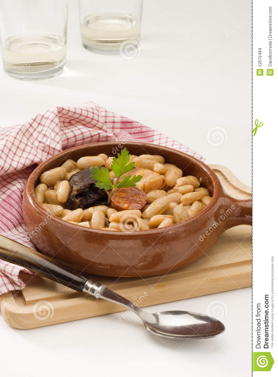 Spanish cuisine asturian ham and beans stock images for Asturian cuisine