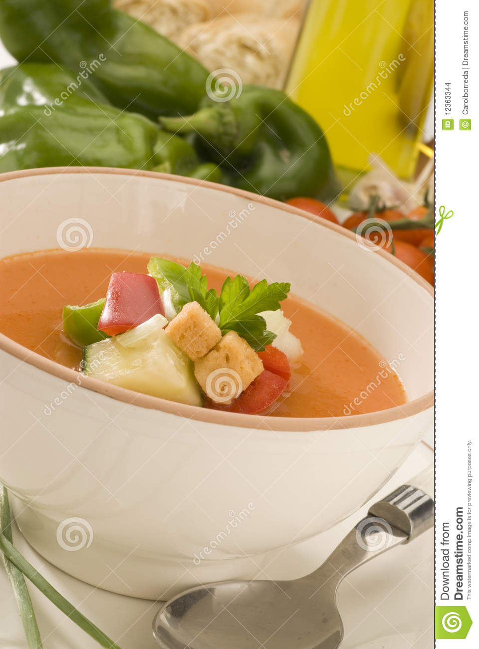 Spanish cuisine gazpacho andalusian cold soup stock for Andalusia cuisine