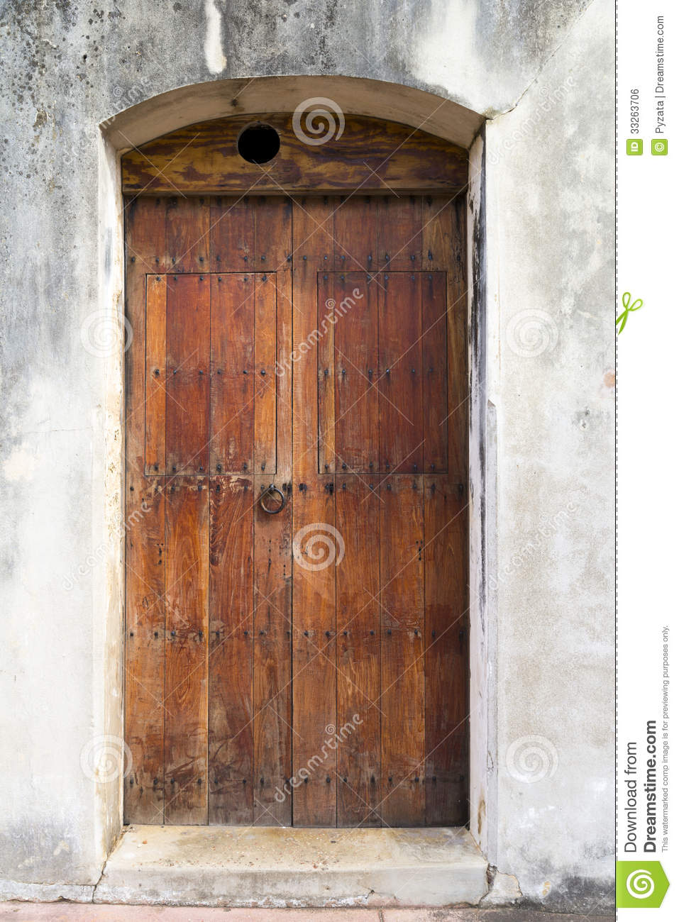 Spanish Door & Large Antique Wood And Iron Spanish Door