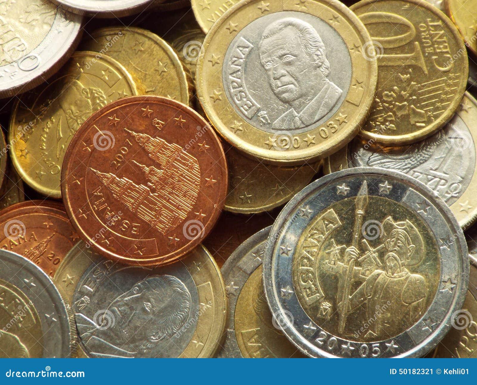 Spanish Euro Coins Stock Photo - Image: 50182321