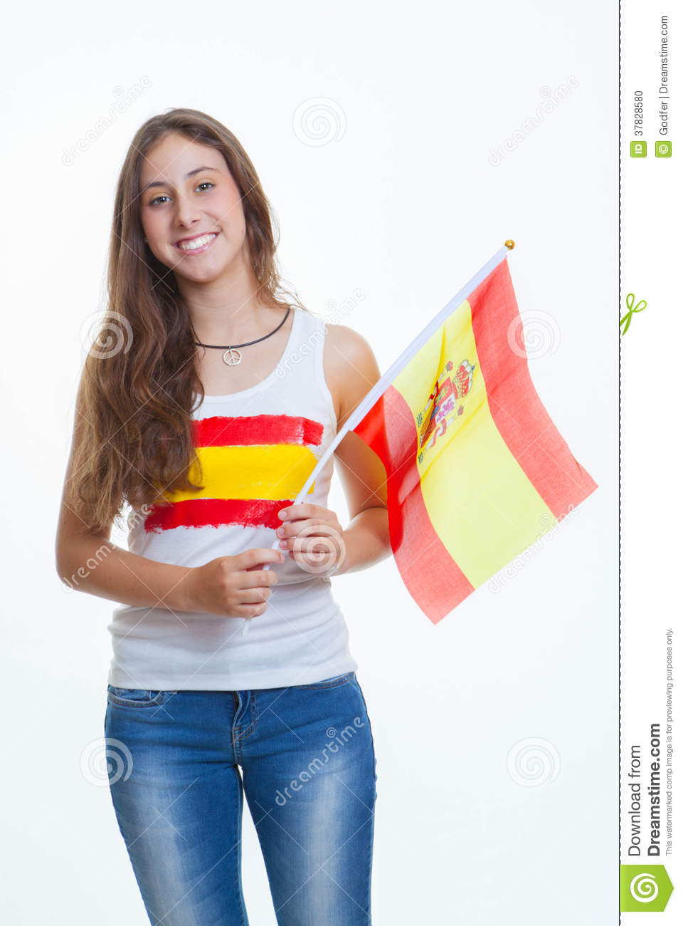 Spanish Flag Person Stock Photo. Image Of Event, United