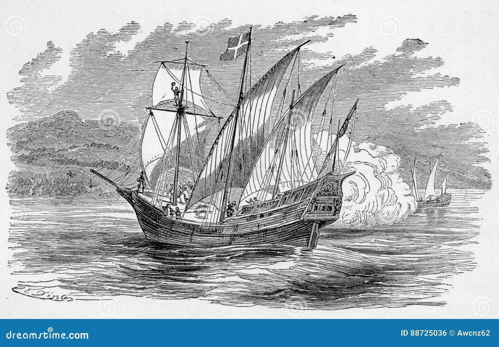spanish galleon editorial photo image 88725036