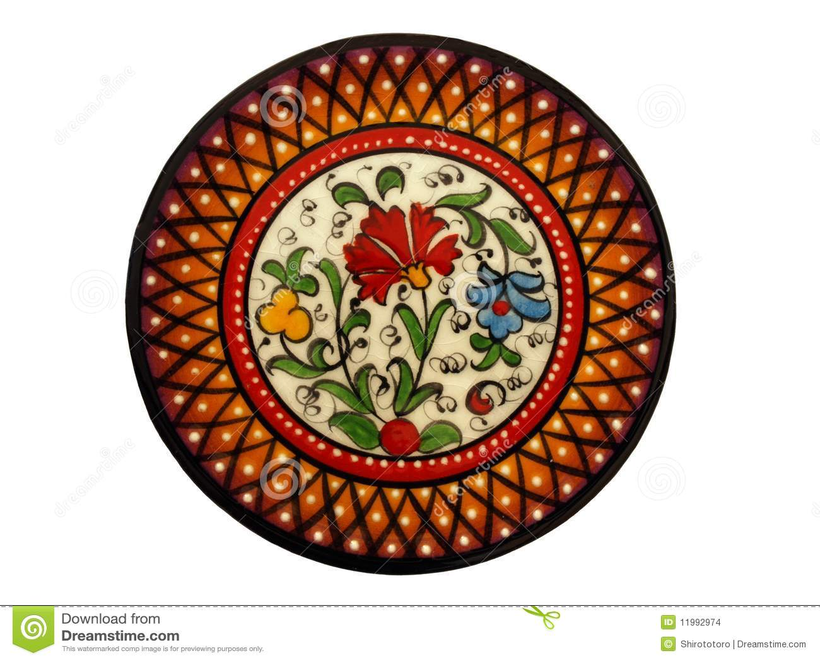 Spanish Hand Painted Plate