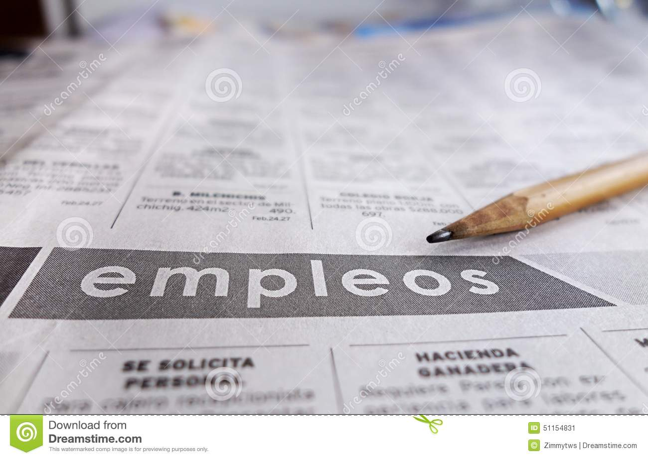 spanish help wanted section stock photo image  spanish help wanted section
