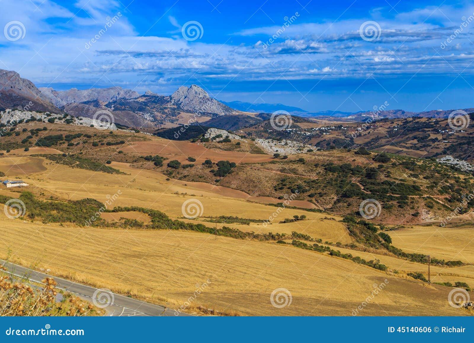 Spanish Landscape Stock Photo Image 45140606