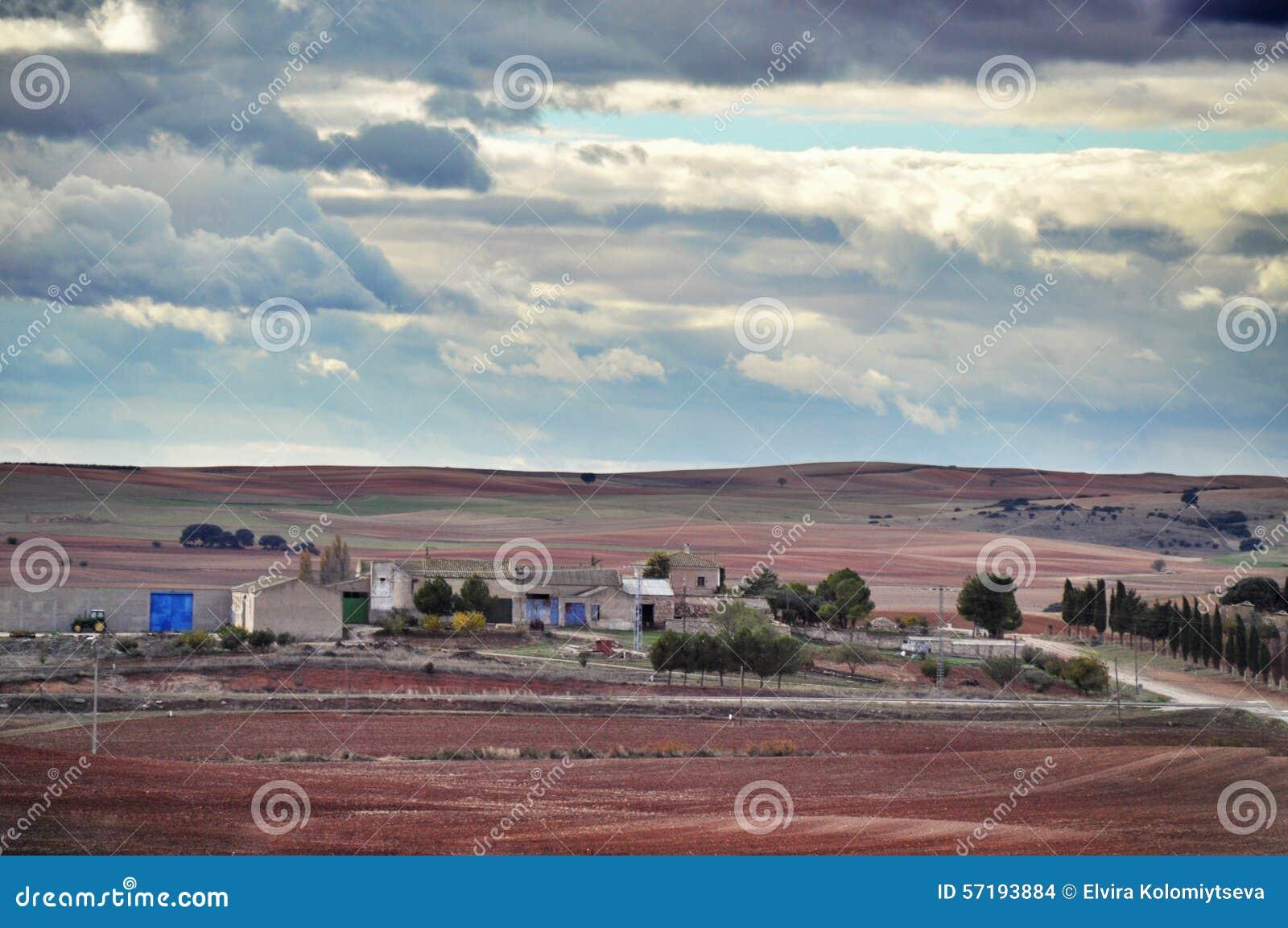 Spanish Landscape Stock Photo Image 57193884