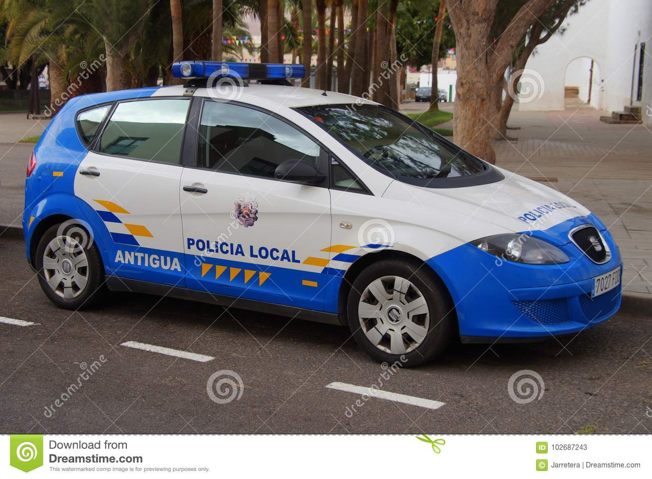 Spanish Local Police Car Seat Altea
