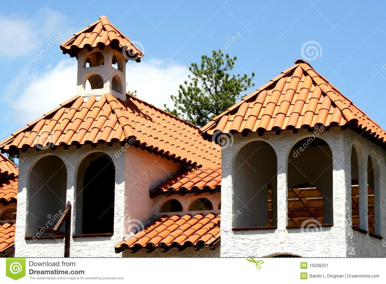 Spanish mediterranean architecture stock image image for Mediterranean roof styles