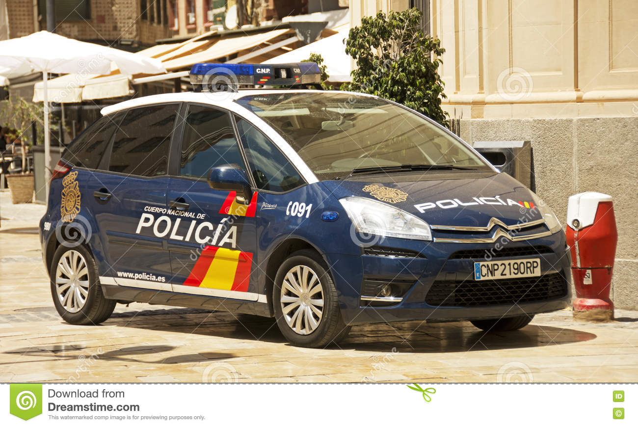 Spanish National Police editorial stock photo  Image of