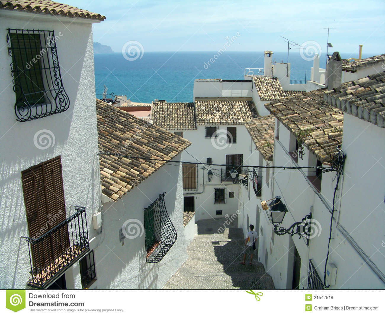 Spanish Old Town Street Royalty Free Stock Photos Image