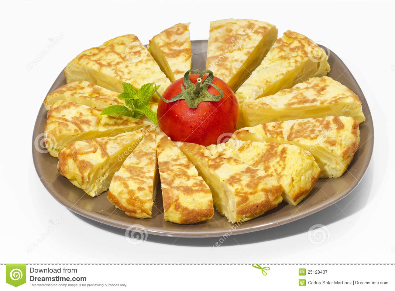 Spanish Omelette Royalty Free Stock Photography - Image: 25128437