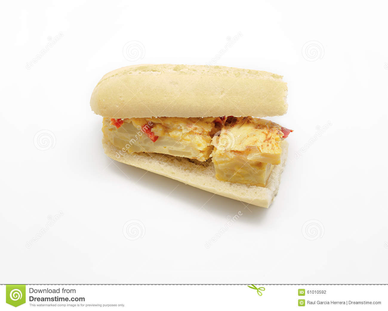 Spanish Omelette Sandwich With Olive Oil And Red Pepper ...