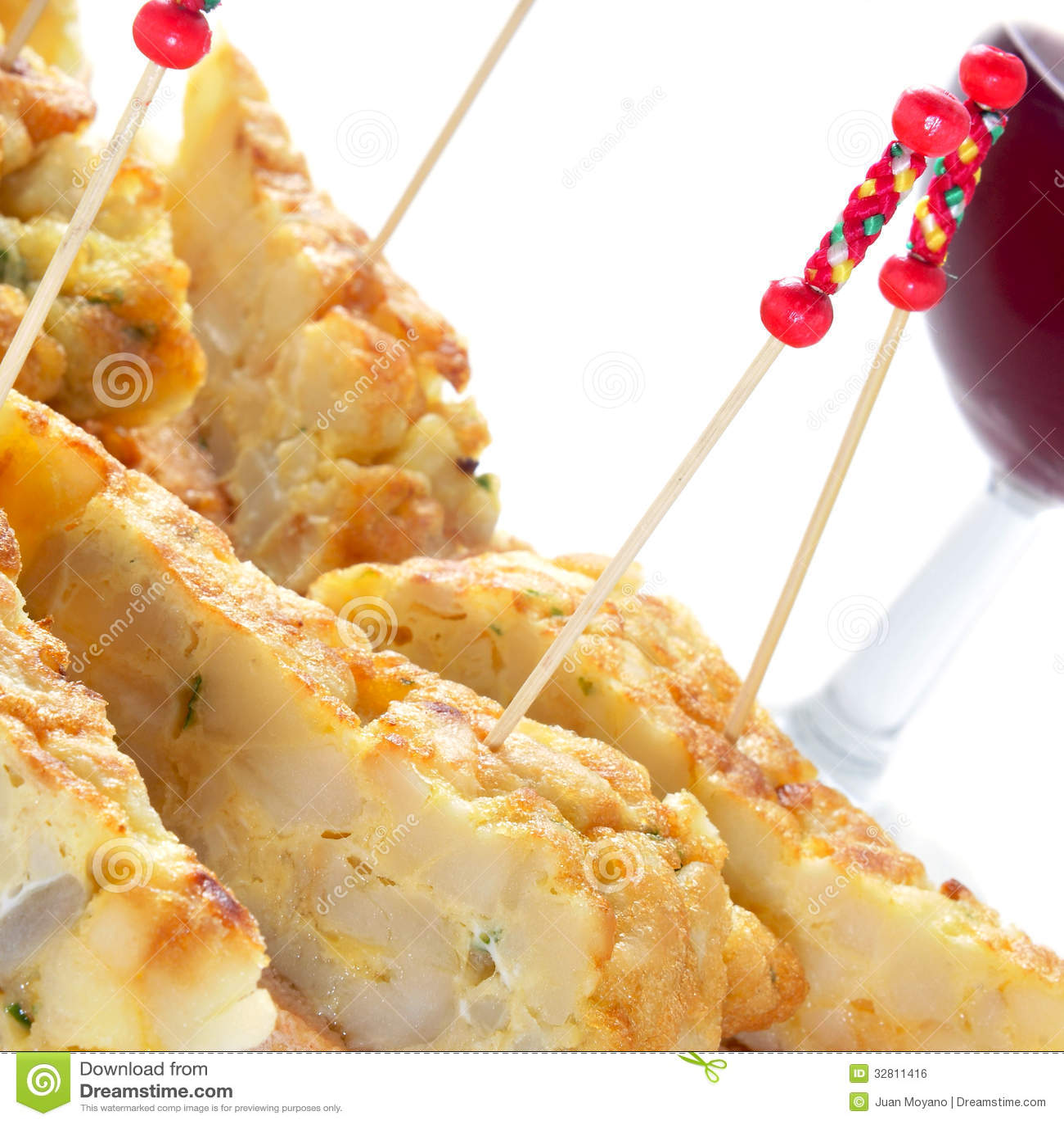 spanish tortilla de patatas sandwich stock image