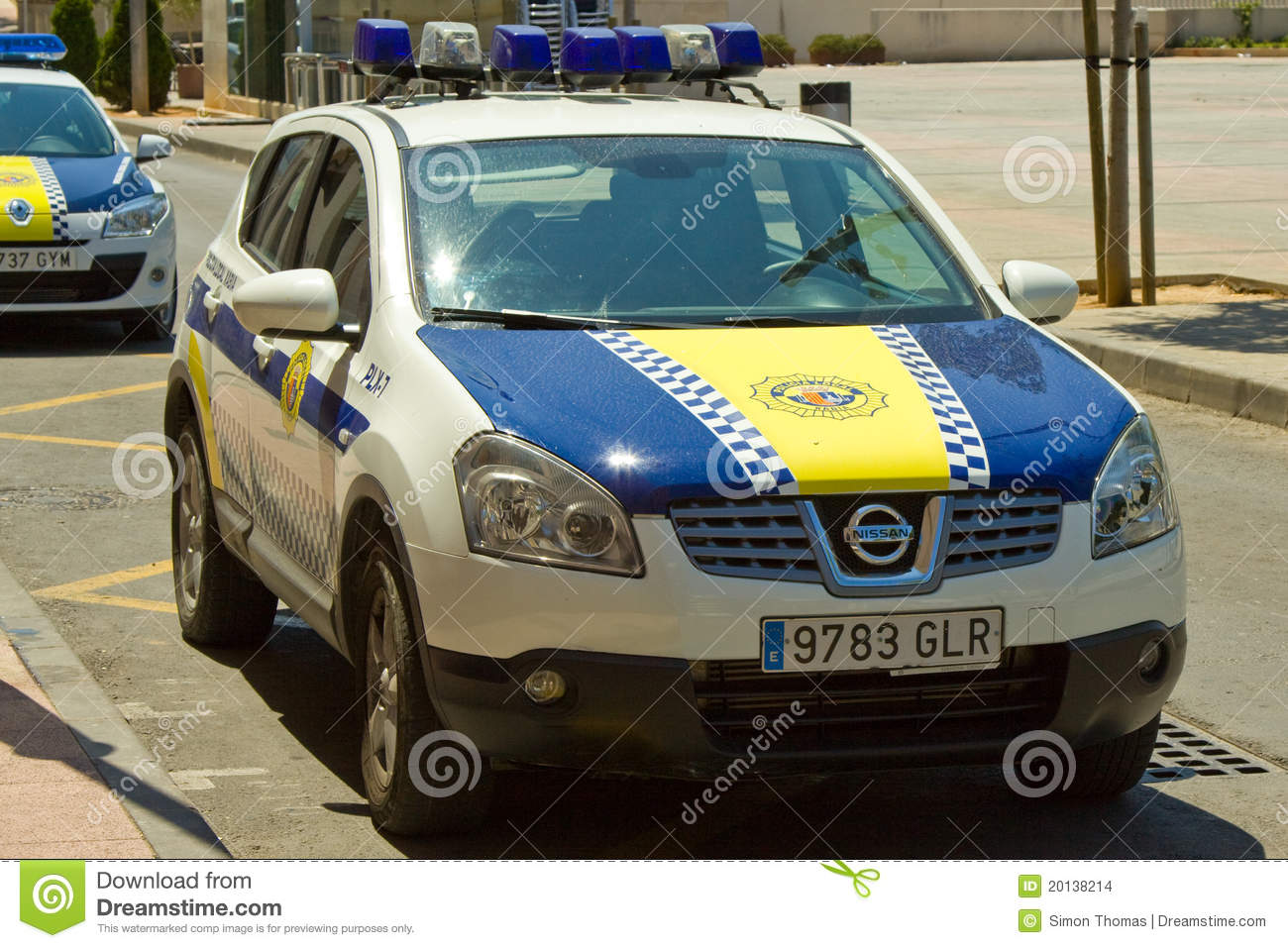 Spanish Police Car editorial stock image  Image of arrest
