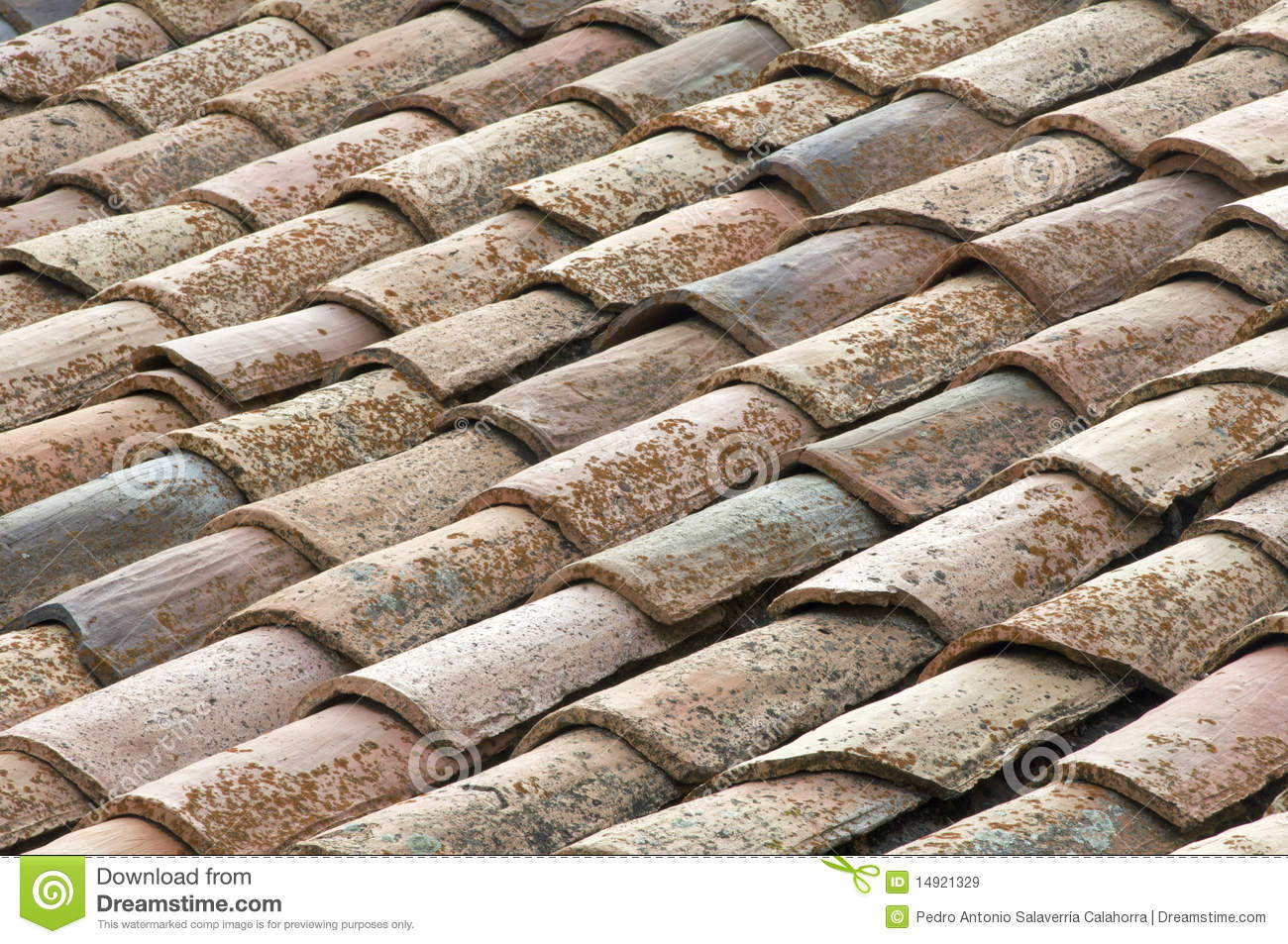 Spanish roof tiles royalty free stock images image 14921329 for Spanish style roof shingles