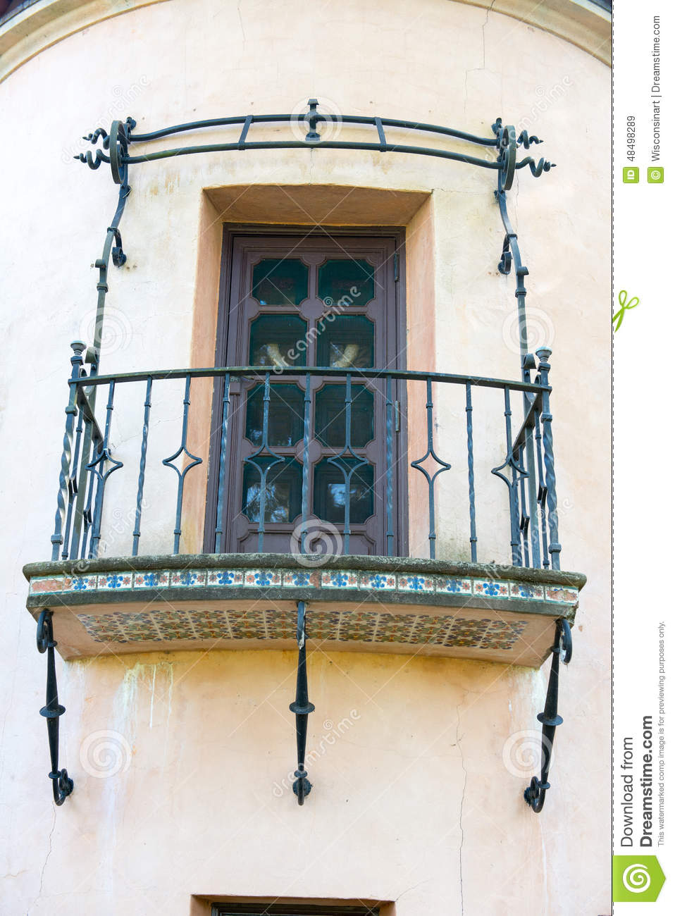 Spanish style architecture house balcony stock photo for Balcony in spanish