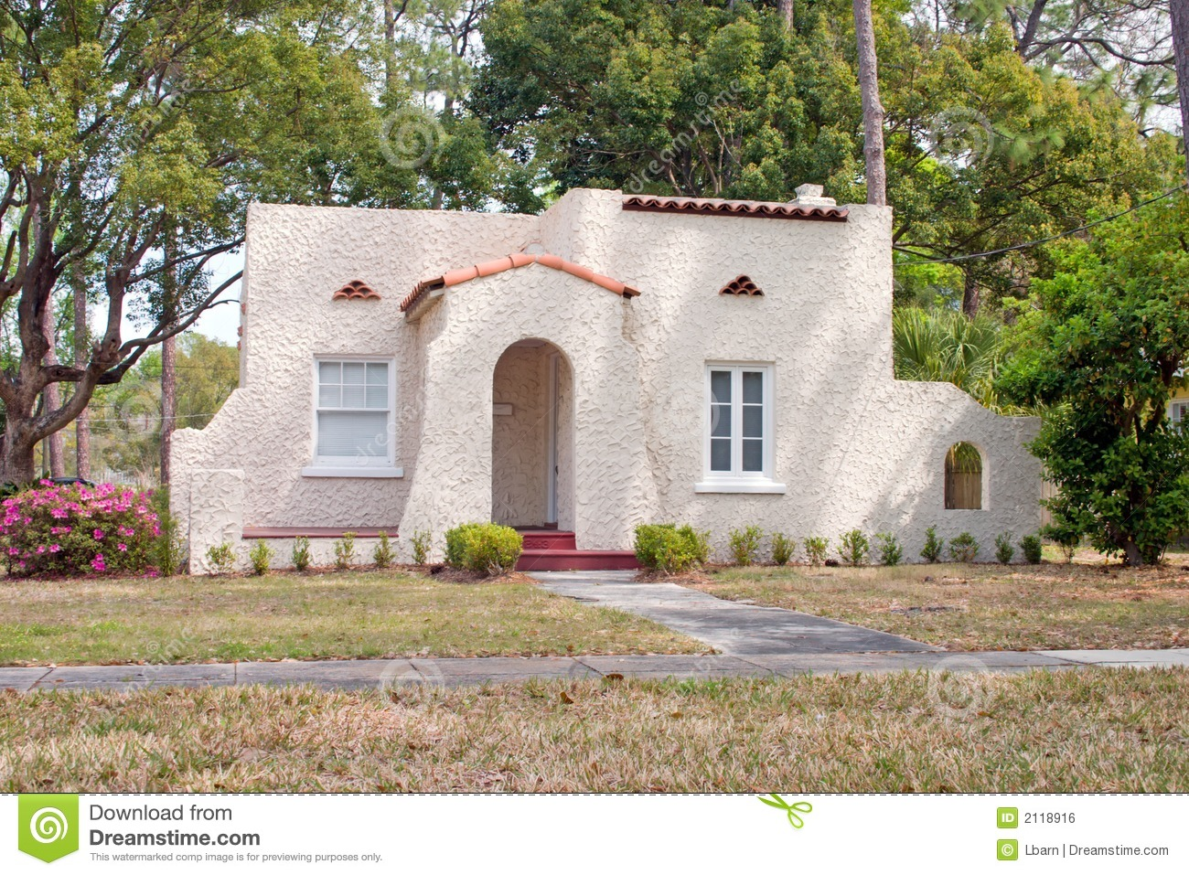 Spanish Style Florida Home Stock Photo Image Of Simple