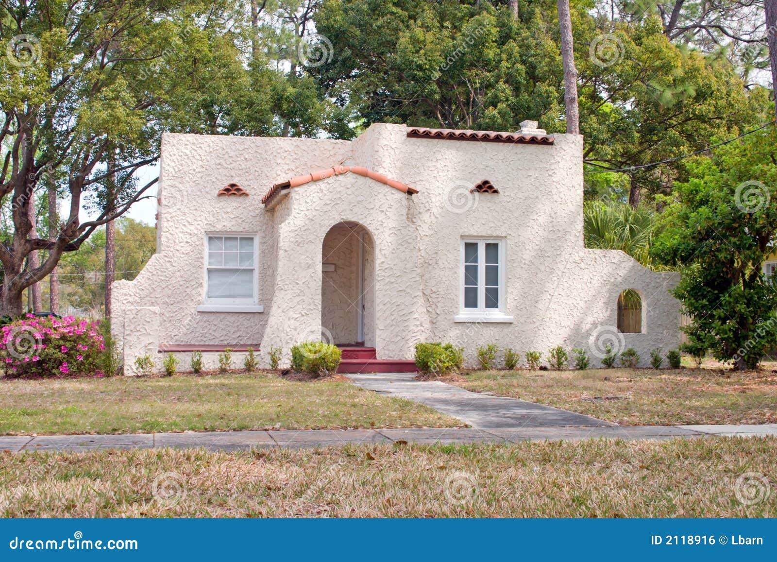 Spanish Style Florida Home Royalty Free Stock Image