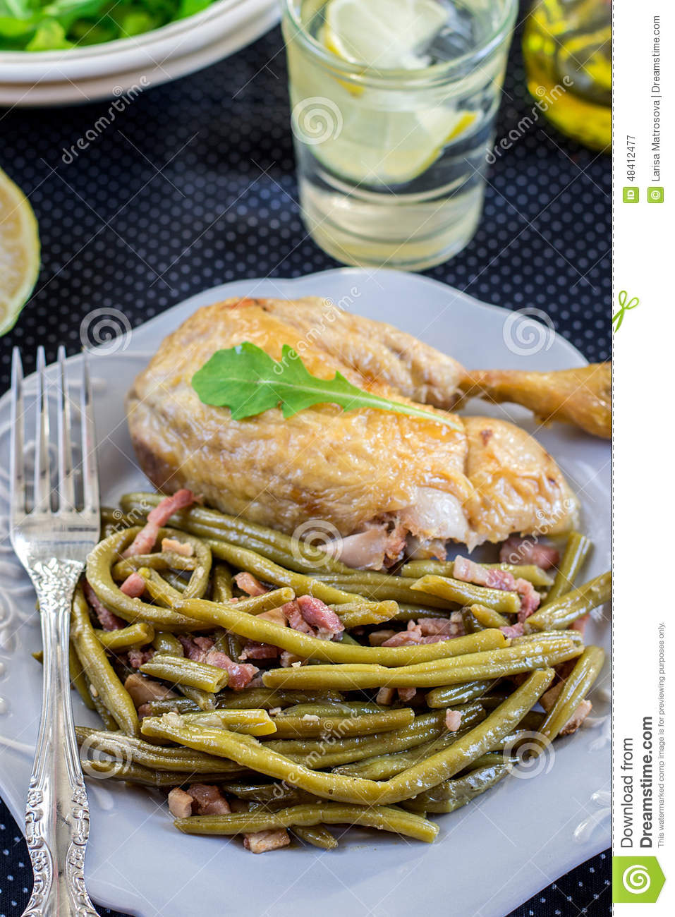 Spanish Style Green Beans With Ham Stock Photo - Image: 48412477