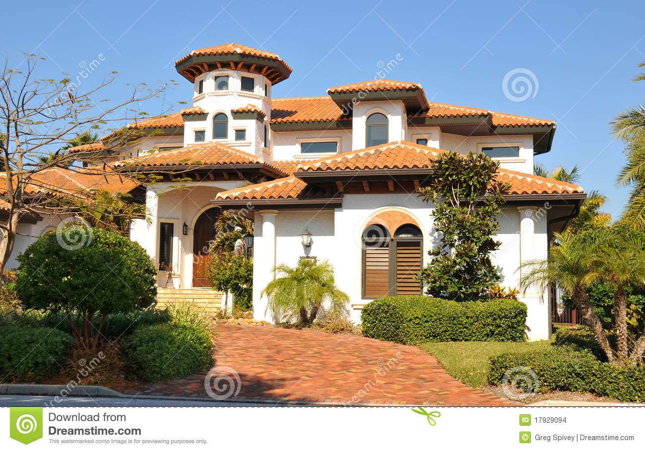 Spanish Style Home With Tower Stock Photo - Image of estate ... on spanish residential architecture, contact designs, spanish fence design, spanish architecture homes, adobe fence designs, pool mediterranean designs, rustic room interior designs, view front house designs, traditional house exterior designs, spanish colonial revival homes, small tuscan style courtyard designs, cool house designs, spanish curtains design, spanish weddings, ranch style house exterior designs, outdoor entertainment designs, spanish design ideas, spanish fashion,