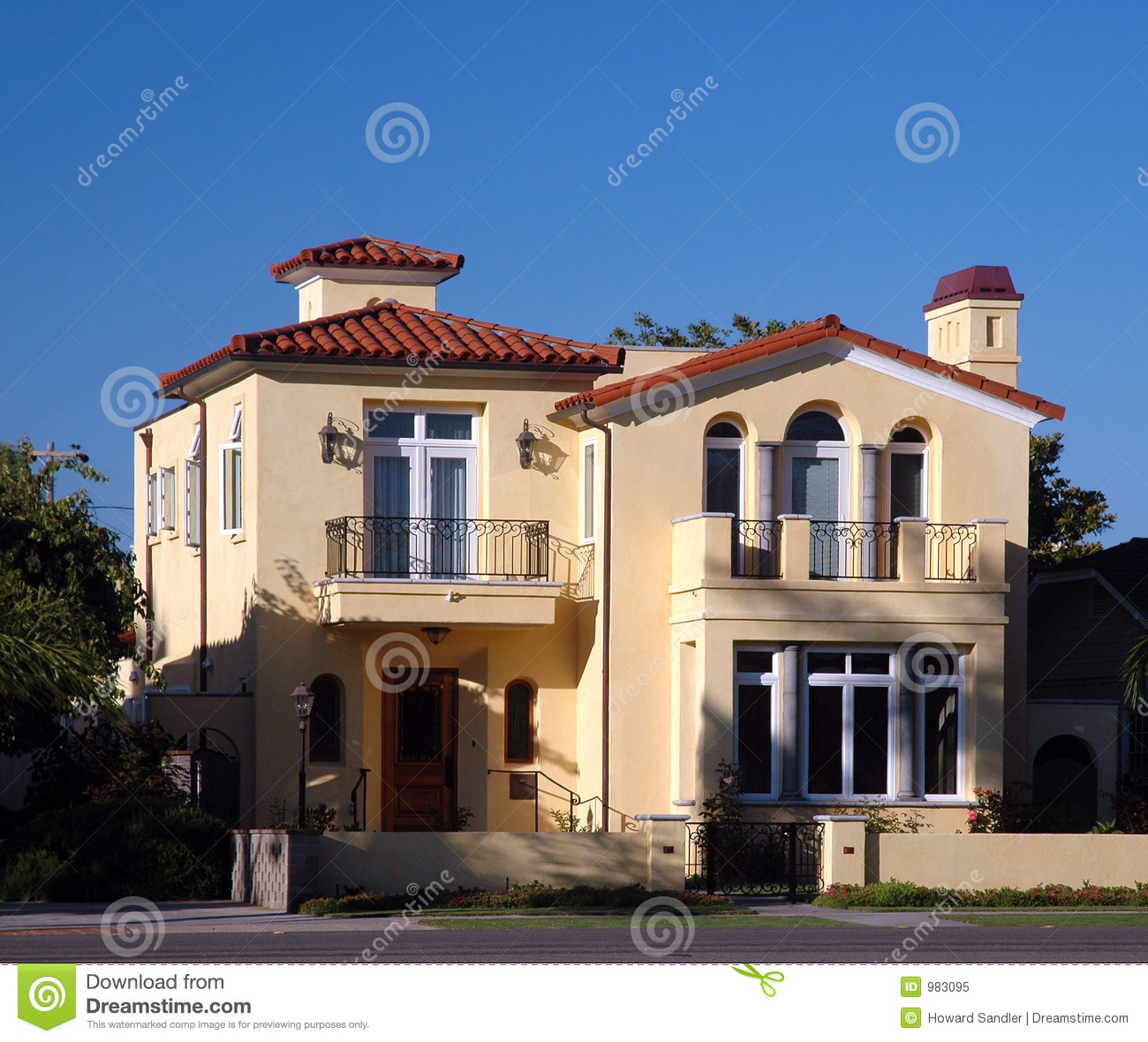 Spanish Style House Royalty Free Stock Photo Image 983095