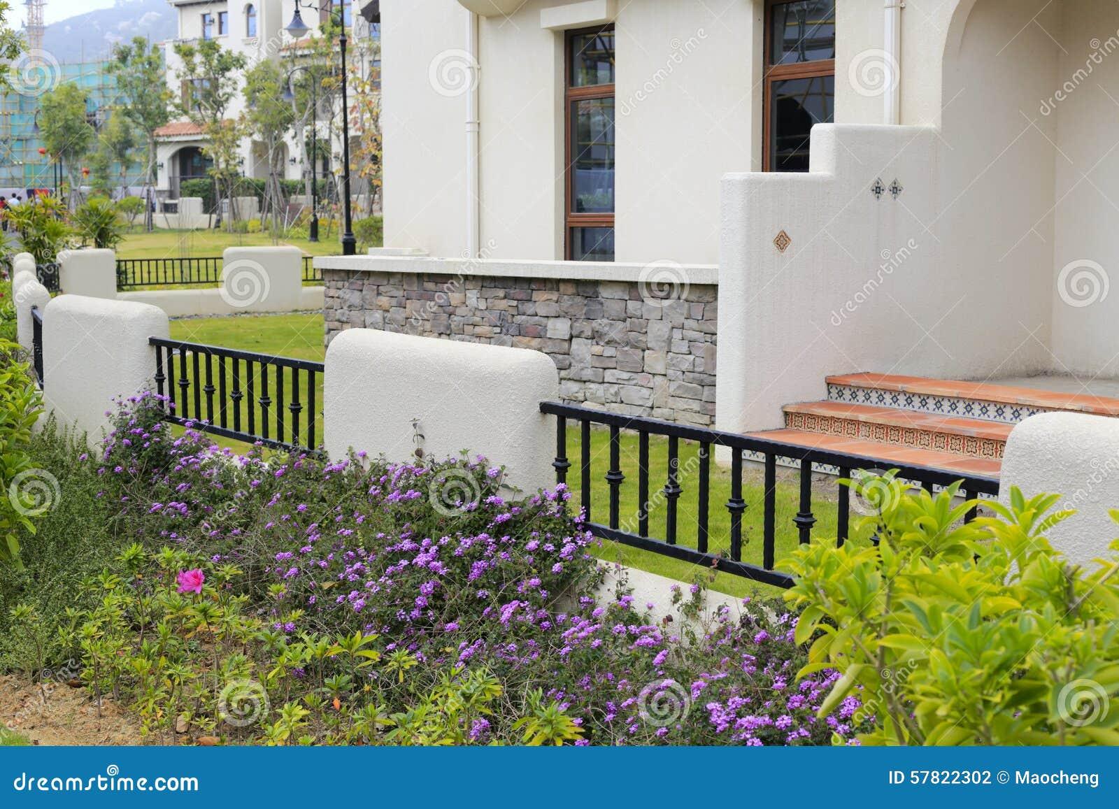 Spanish Style House Backyard