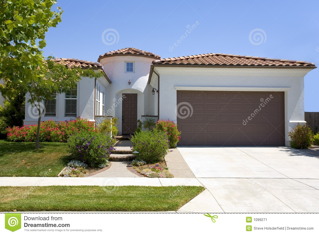 Spanish style stucco home stock photos royalty free pictures for Spanish style homes for sale near me