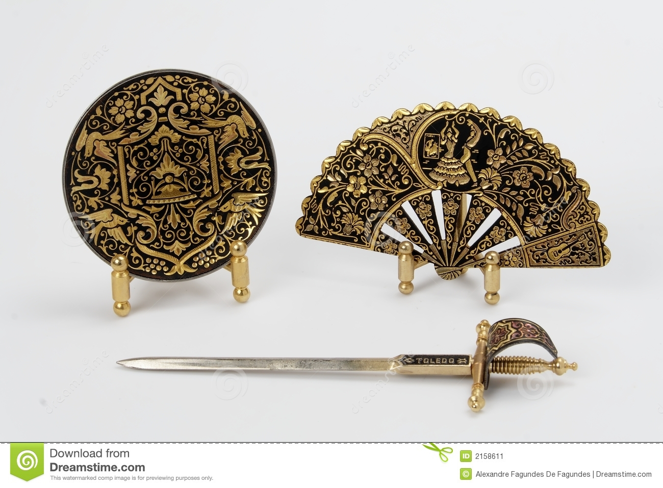 Spanish Sword, Plate and Fan
