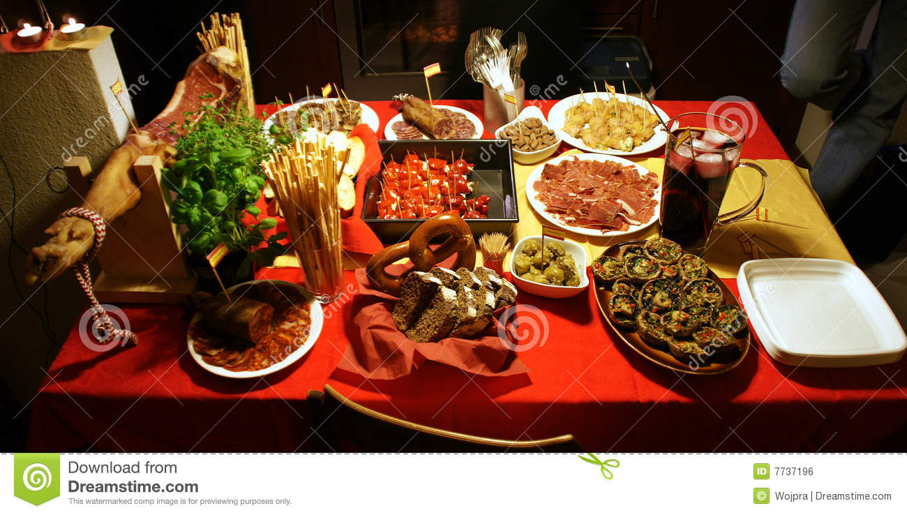 Spanish Tapas Party Royalty Free Stock Image Image 7737196