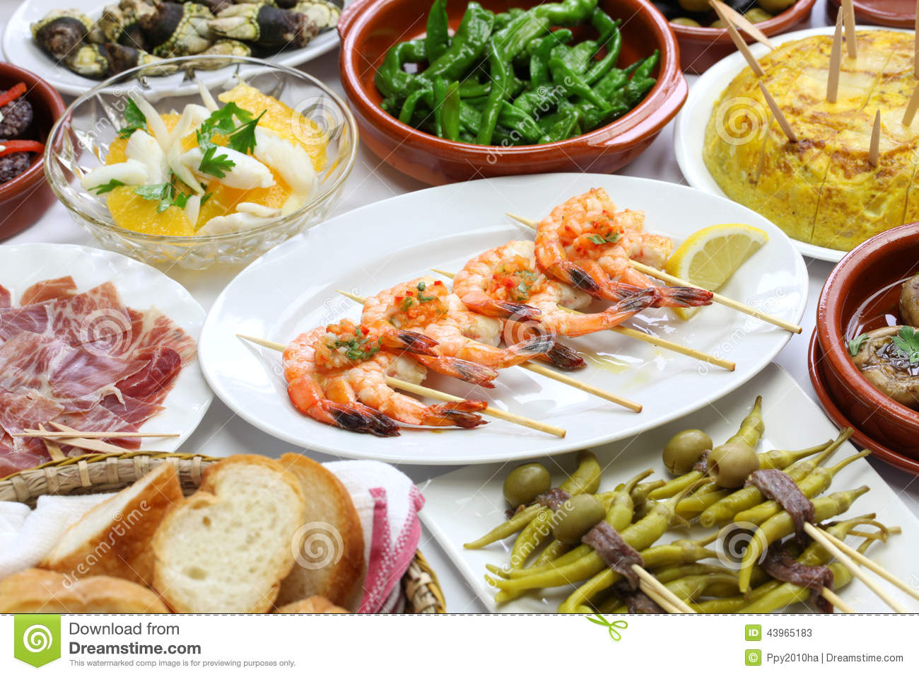 Spanish tapas variety stock photo image 43965183 for Cuisine bar tapas