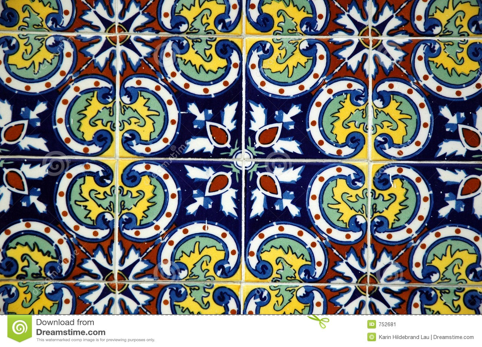 Spanish tile stock image image 752681 for Spanish decorative tile