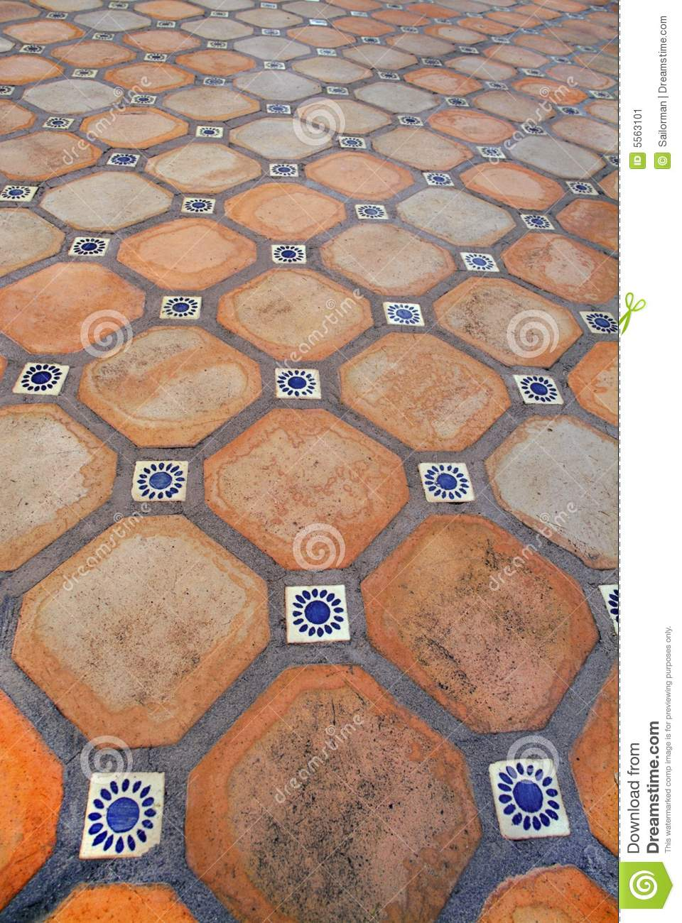 Spanish tile floor stock image image of cotta piazza Spanish clay tile
