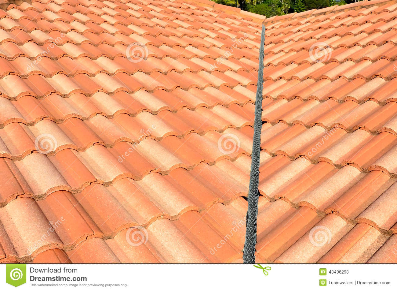 Spanish tile roof stock photo image of background for Spanish clay tile roof