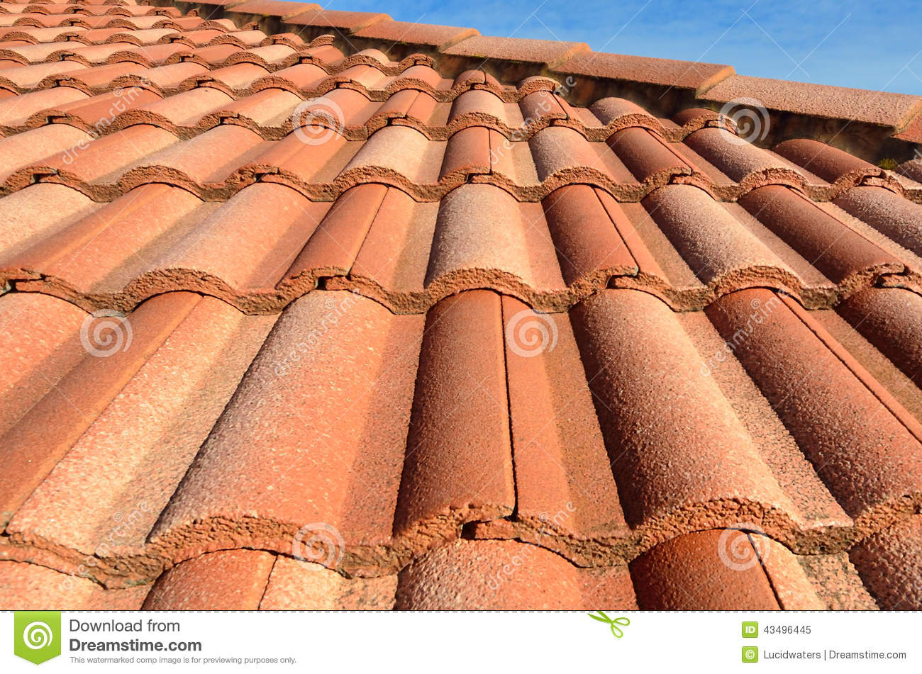 Spanish Tile Roof Stock Photo Image 43496445