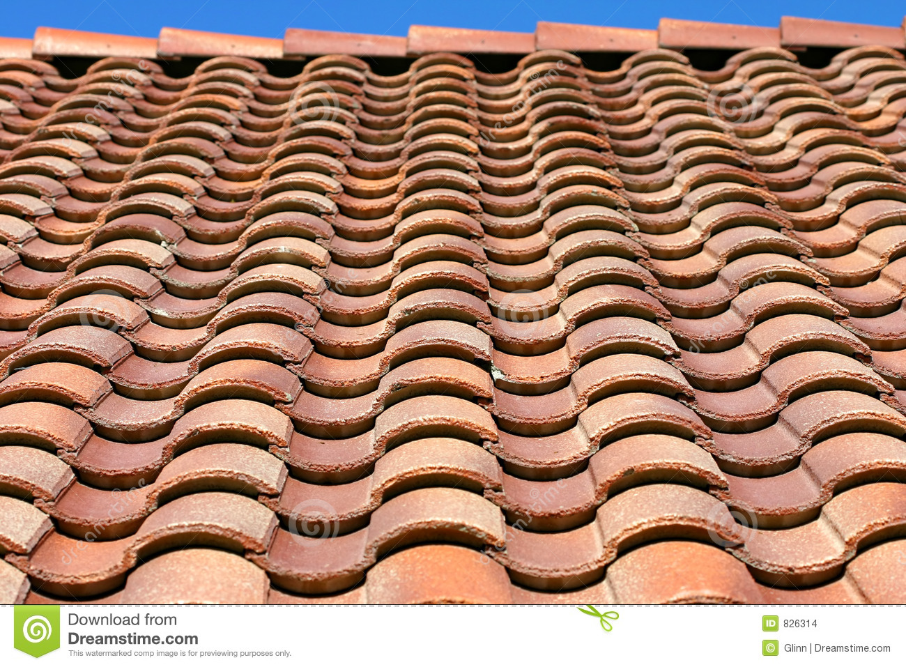Spanish Tile Roof Texture Stock Images Image 826314