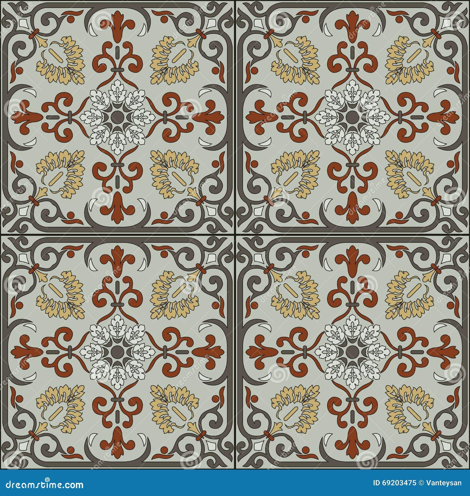 Spanish Traditional Ornament Mediterranean Seamless
