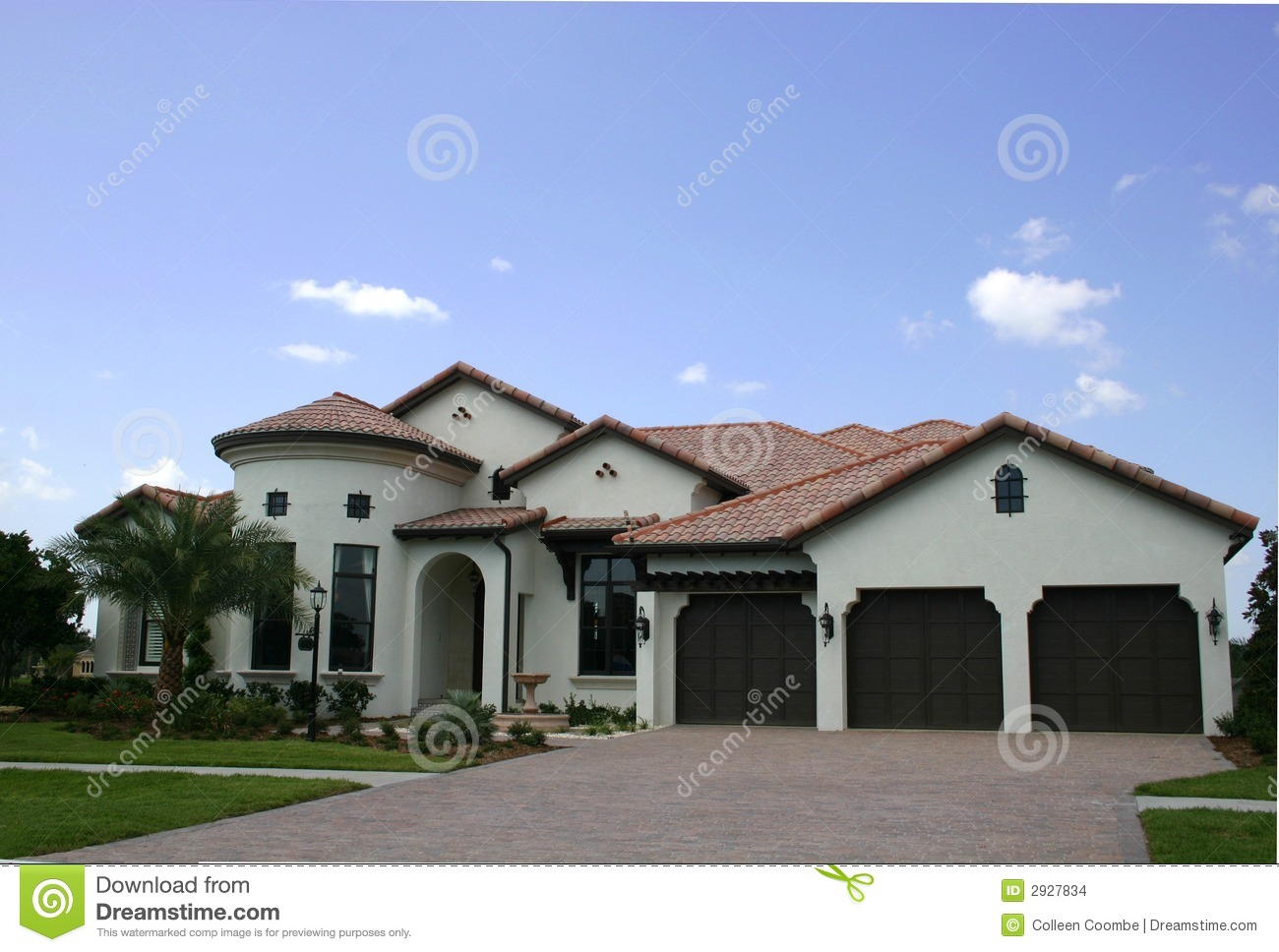 Spanish-type Home Stock Images - Image: 2927834
