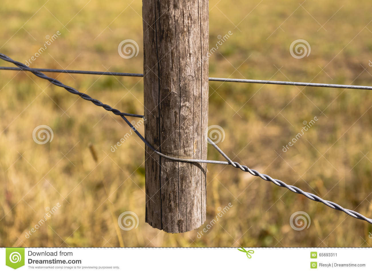 Spanish Windlass Style Fence Wire Tightener Stock Image - Image of ...
