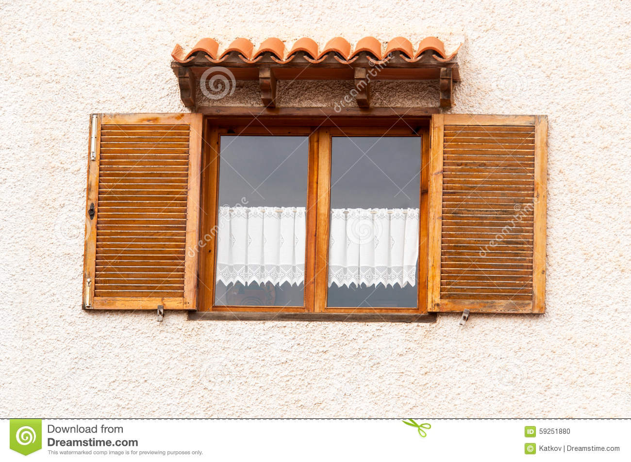 Spanish window royalty free stock photo cartoondealer for Spanish style window shutters
