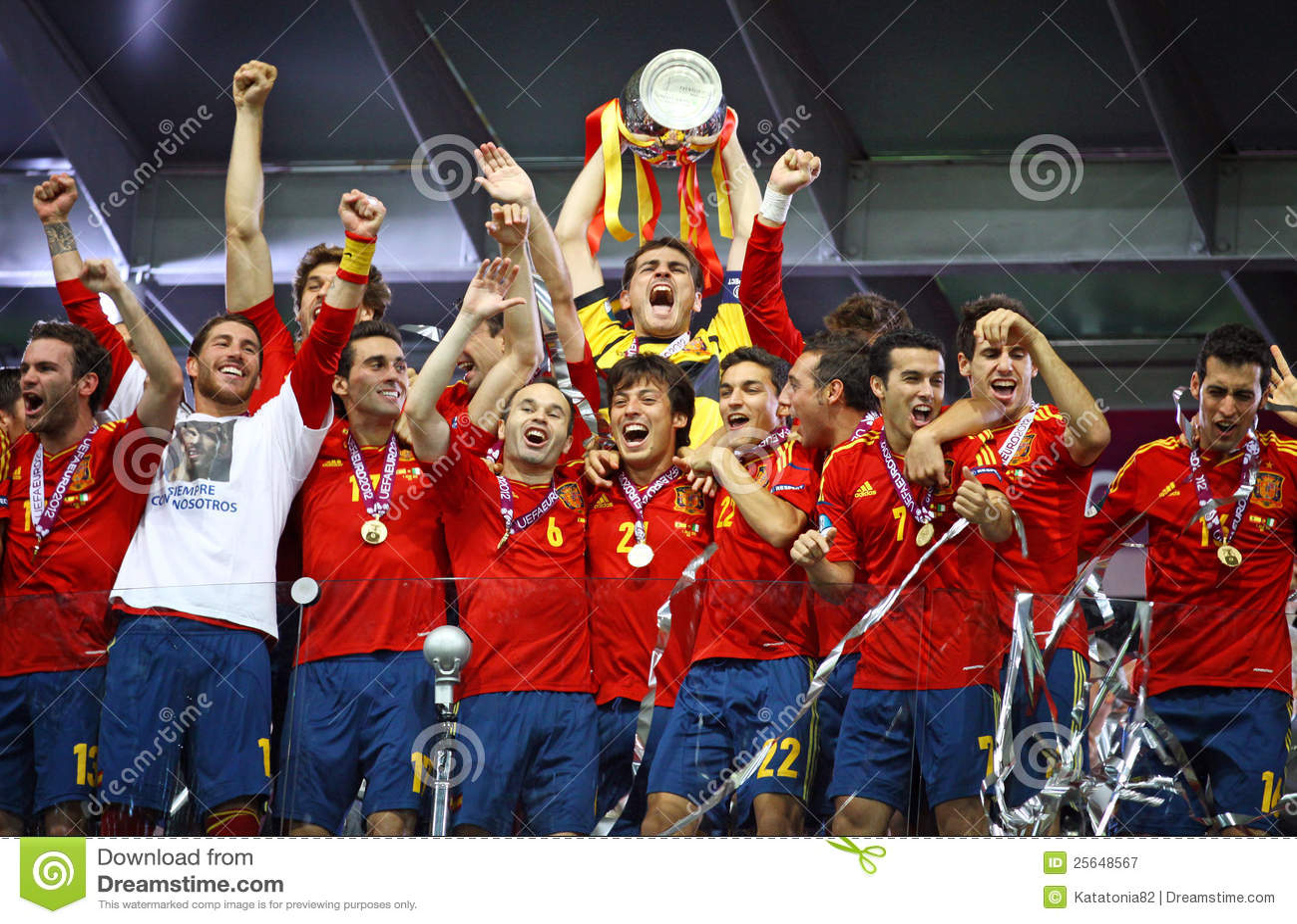 Spanje - de winnaar van de EURO 2012 van UEFA