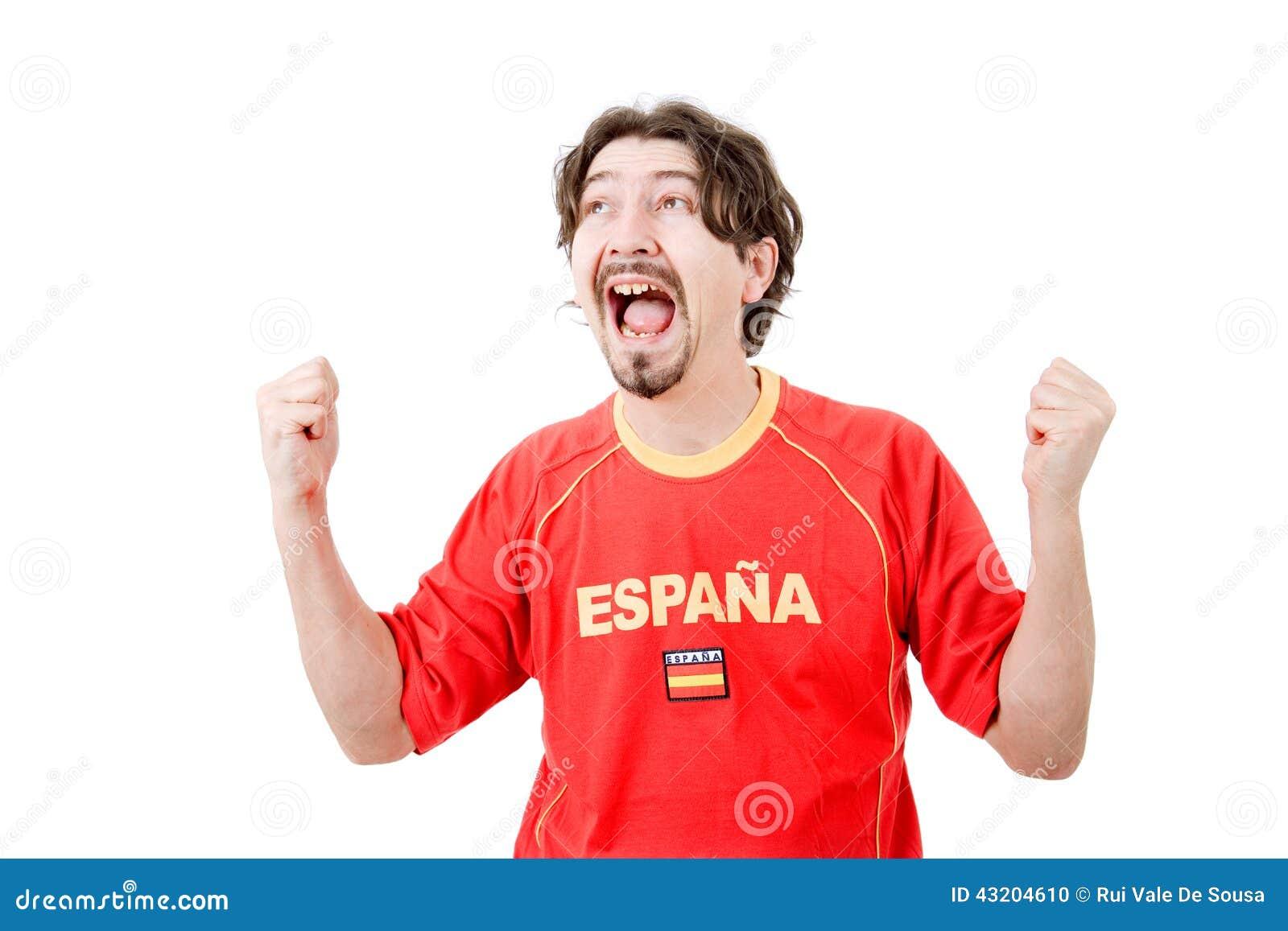 Download Spanjoren fläktar arkivfoto. Bild av skri, flagga, framsida - 43204610