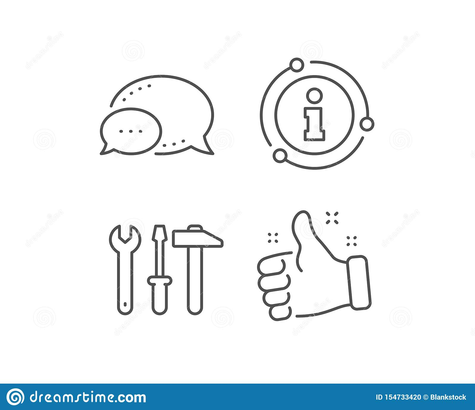 Maintenance Services Sign Spanner Troubleshooting Icon: Spanner, Hammer And Screwdriver Line Icon. Repair Service