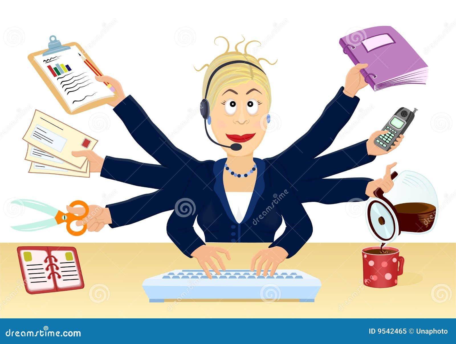 Spanning en multitasking op het kantoor