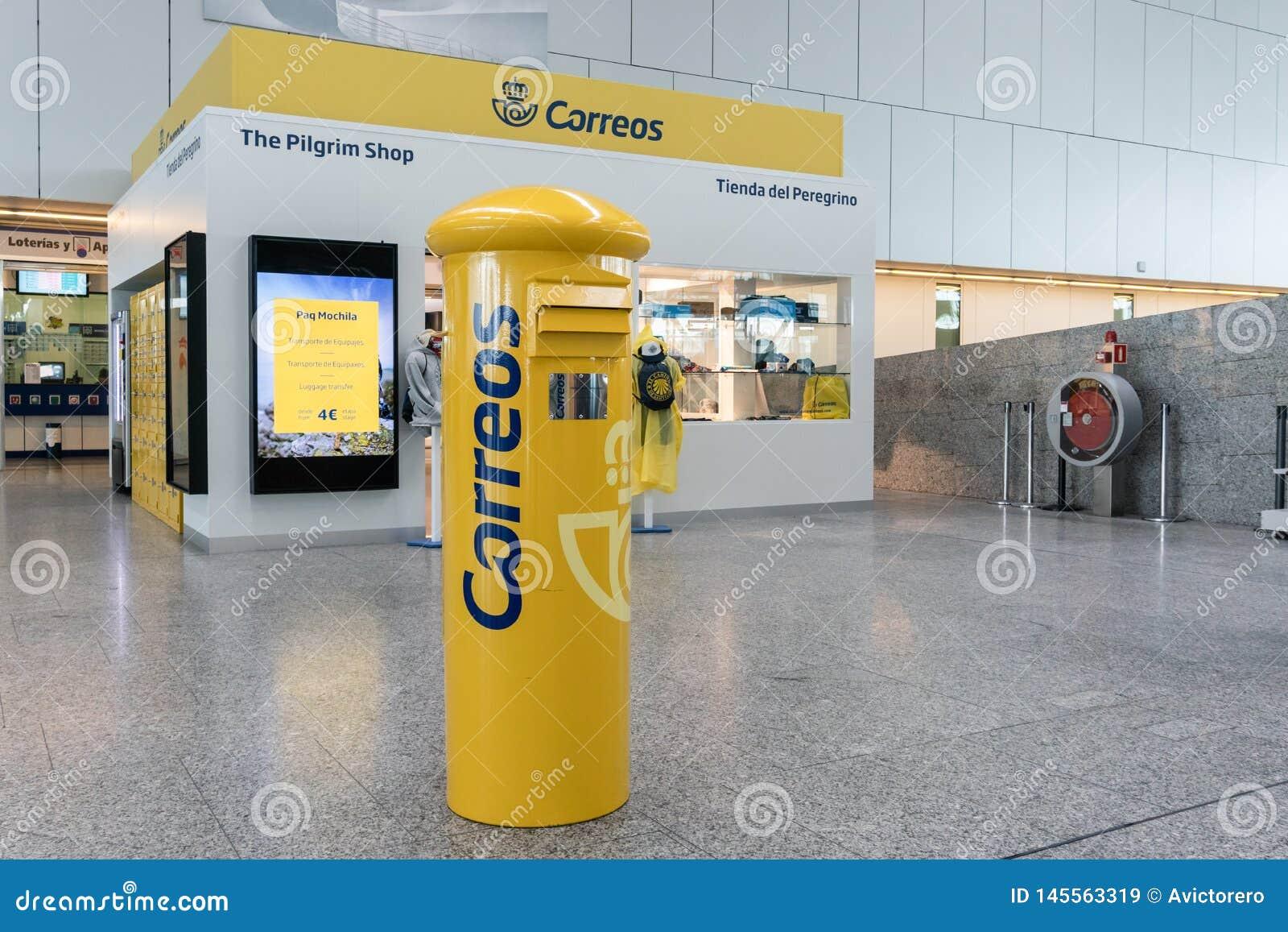 Spansk stolpe - kontor på flygplats