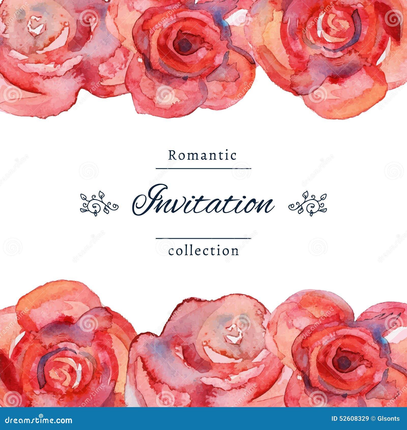 Spara datum- eller bröllopinbjudanmallen med rosor