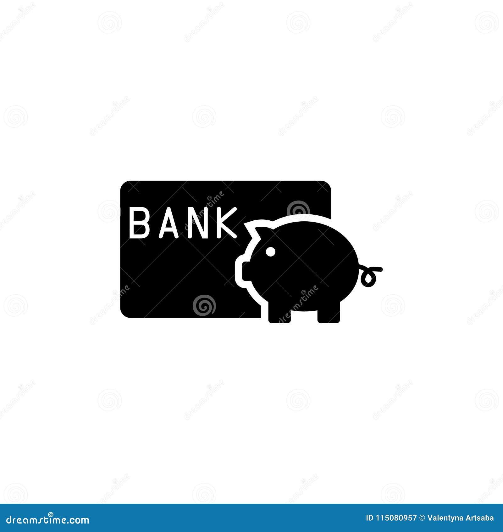 Spara pengarspargrisen med symbolen för kreditkortlägenhetvektorn