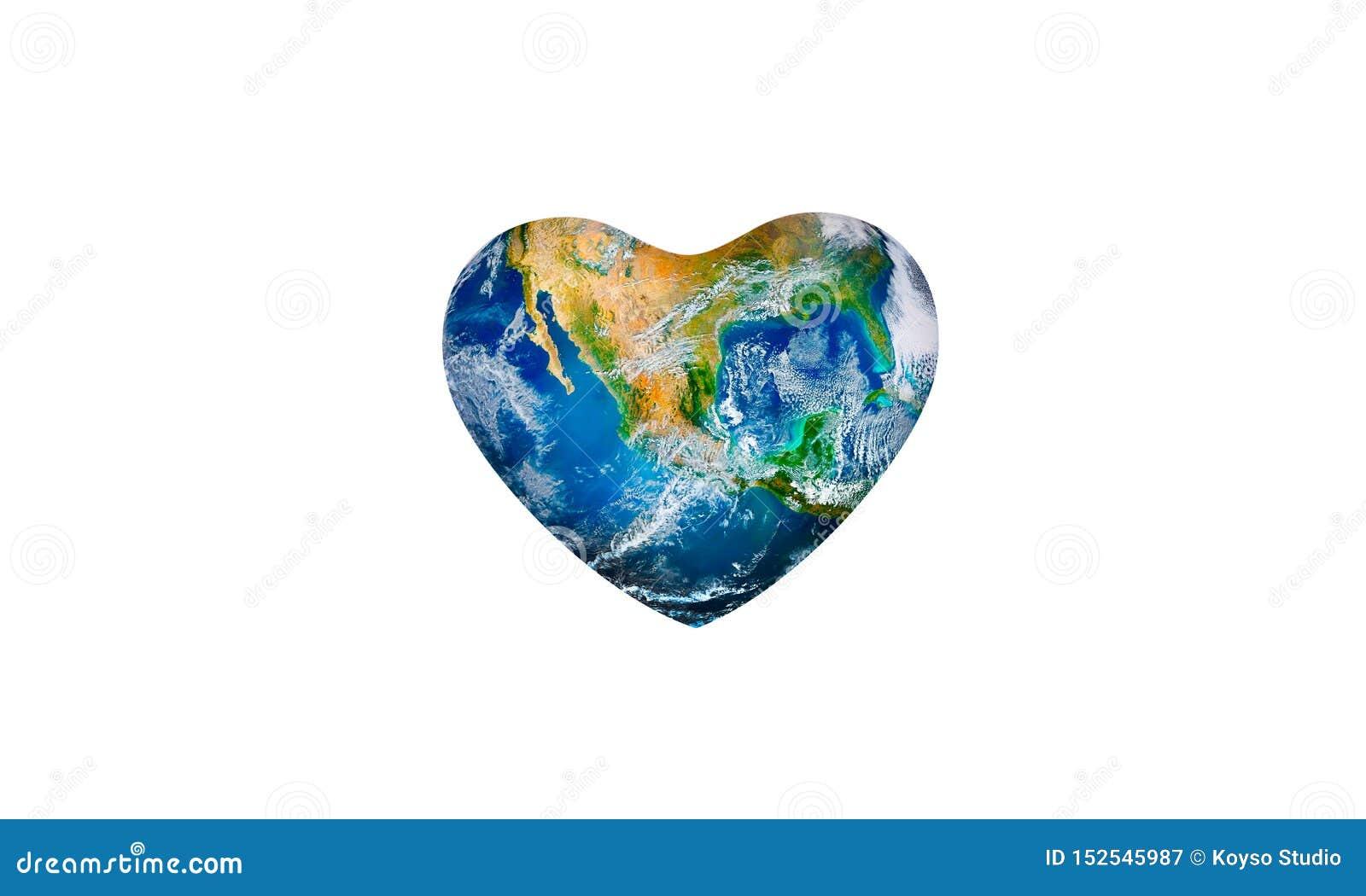 Sparande världsekologibegrepp Best?ndsdelar av denna avbildar m?blerat av NASA