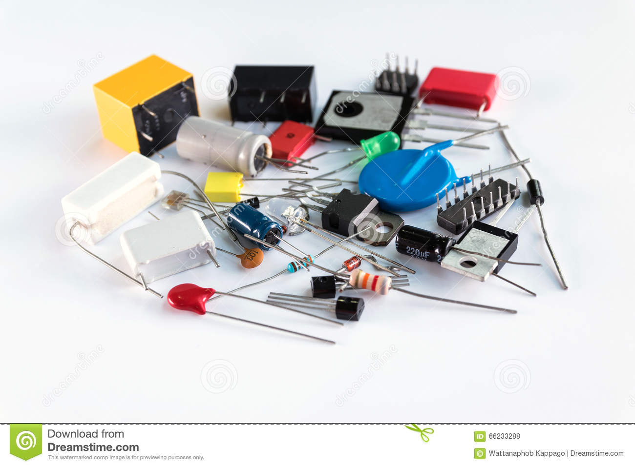 Spare Parts Of Electronic Devices Stock Photo Image Of