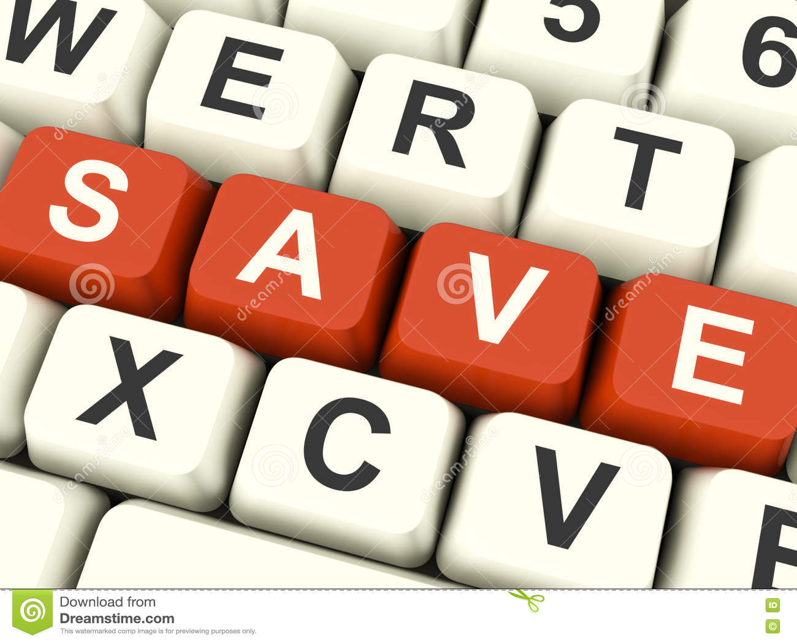 Sparen Computersleutels als Symbool voor Kortingen of Bevordering